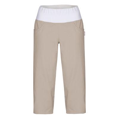 Dámské 3/4 kalhoty s úpletem v pase a rozparky LUKIDA