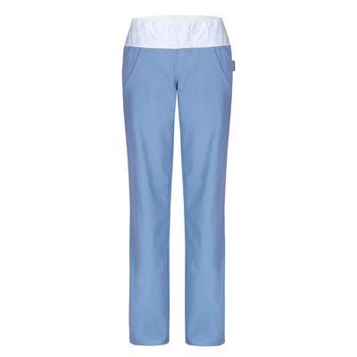 Dámské kalhoty s úpletem v pase a kapsami ATRIA
